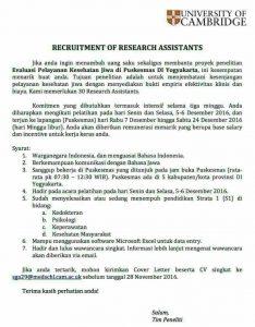 rekruitmen-of-research-assistants