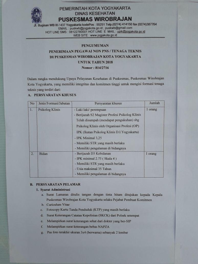 Puskesmas Wirobrajan Universitas Aisyiyah Yogyakarta