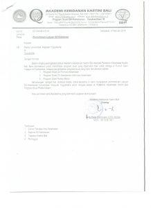 surat permohonan lulusan S2 Kebidanan UNISA