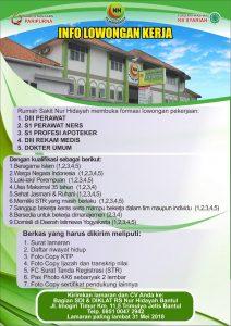 Lowongan Kerja Perawat Di Rs Nur Hidayah Yogyakarta