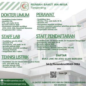 Recruitment Rs An Nisa Tangerang Universitas Aisyiyah Yogyakarta